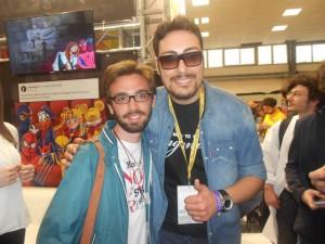 Ciro Priello - membro di The Jackal - ospite al Napoli Comicon.