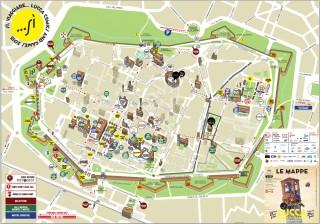 Mappa del Lucca Comics & Games 2015.