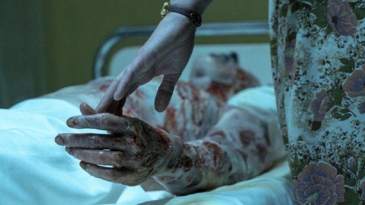 Una tragica scena tratta dalla serie televisiva Chernobyl.